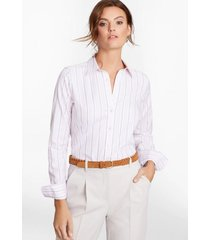 blusa classic-fit cotton dobby blanco brooks brothers