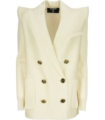 balmain double-breasted viscose blazer