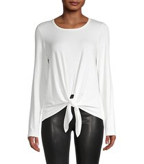tie-front long-sleeve t-shirt