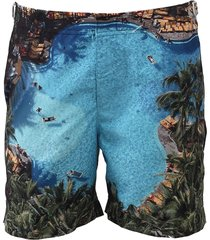 bulldog pool mid-length swim shorts