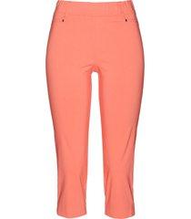 pantaloni capri elasticizzati con elastico (arancione) - bpc selection