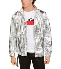 hugo boss men's silver space jacket