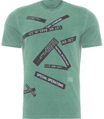 camiseta masculina vintage military - verde