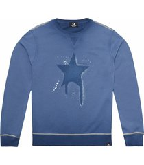 converse sudadera de manga larga distressed faded dye