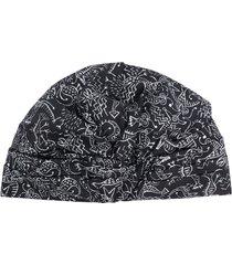 10 corso como sketch-print turban hat - black