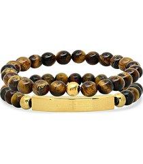 anthony jacobs men's 2-piece beaded bracelet set