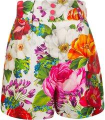 dolce & gabbana floral print high-waist skirt