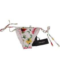 bloemenprint bottom bikini