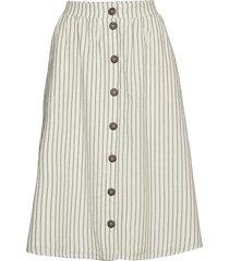 skirts light woven knälång kjol creme esprit casual