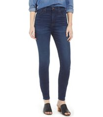 women's madewell curvy high waist skinny jeans, size 25 - blue