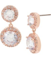 jessica simpson cubic zirconia stone double drop earrings