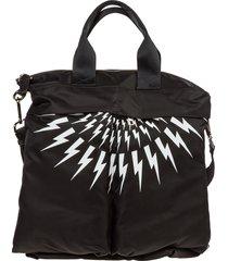 neil barrett thunderbolt fair-isle handbags