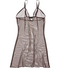 women's lasette ada sheer slip, size x-small - brown