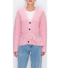 english factory cardigan sweater with belt