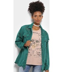 jaqueta sarja colcci rasgos barra desfiada feminina