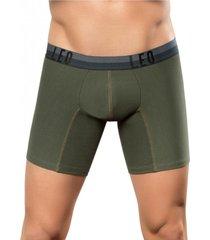 bóxer largo en confortable algodón masculino interior verde leo