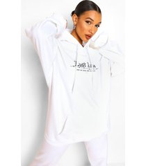 lost love barbed wire boyfriend hoodie, white