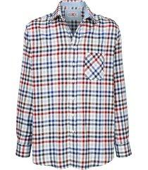 overhemd roger kent marine::blauw::rood