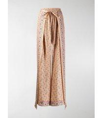 chloé paisley print wrap trousers
