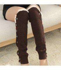stile coreano di stile di lavoro a maglia che stringe calze lunghe calze protettive del calzino hosiey