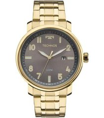 relógio masculino technos classic 2115mng/4c 44mm
