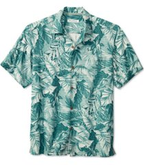tommy bahama men's big & tall shadow toucan classic-fit tropical-print silk camp shirt