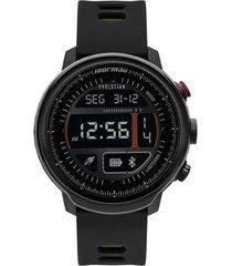 relógio mormaii smartwatch evolution mol5ab/8y 48mm silicone masculino