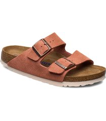 arizona soft footbed shoes summer shoes flat sandals röd birkenstock