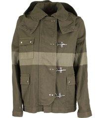 fay 4 ganci striped jacket