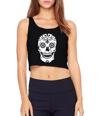top cropped criativa urbana caveira mexicana