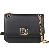 dolce & gabbana dg millennials bag in nappa color black