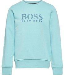 sweatshirt sweat-shirt trui blauw boss