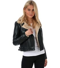 womens fall faux leather jacket