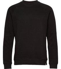 fruelund stickad tröja m. rund krage svart minimum