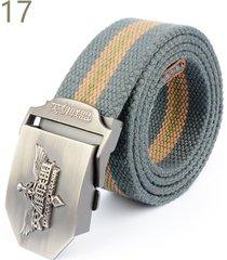 cinturón de hombres, cinturón trenzado azul league of-gris