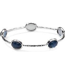 sterling silver & blue quartz bangle bracelet
