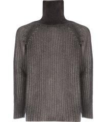 avant toi high neck cob stitch pullover