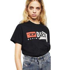 diesel 00sdp1 0091a t-diego cuty t shirt and tank unisex black