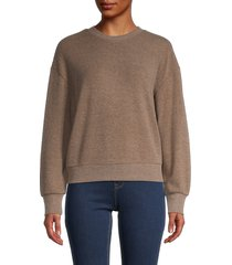 for the republic women's crewneck cropped sweater - latte - size m