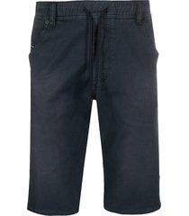 diesel d-krooshort slim-fit shorts - blue