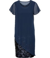 abito elegante in jersey con paillettes (blu) - bodyflirt