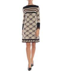 alberta ferretti - monogram motif dress