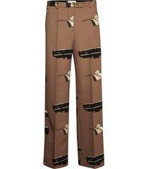 silene p pantalon met rechte pijpen bruin tiger of sweden