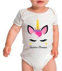 body bebê criativa urbana unicorns dreams unicórnio feminino