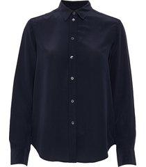 classic silk shirt långärmad skjorta blå filippa k