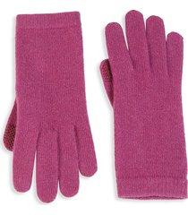 portolano women's knit cashmere tech gloves - black