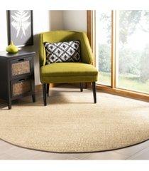safavieh natural fiber ivory and beige 6' x 6' sisal weave round area rug