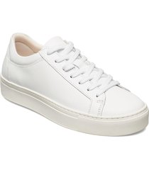 slfemma leather trainer b sneakers skor vit selected femme