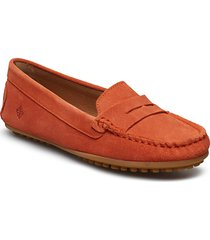 lady car shoe loafers låga skor orange morris lady
