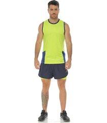 pantaloneta deportiva running, color azul oscuro para hombre